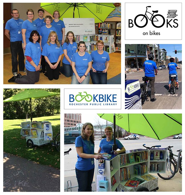 Collage of BookBike participants