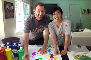 Author Kathryn Otoshi worked side by side with Bret Baumgarten on Beautiful Hands