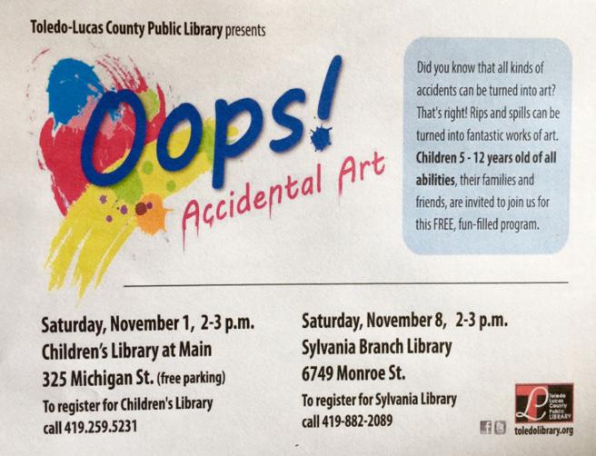 Oops! Accident Art flier