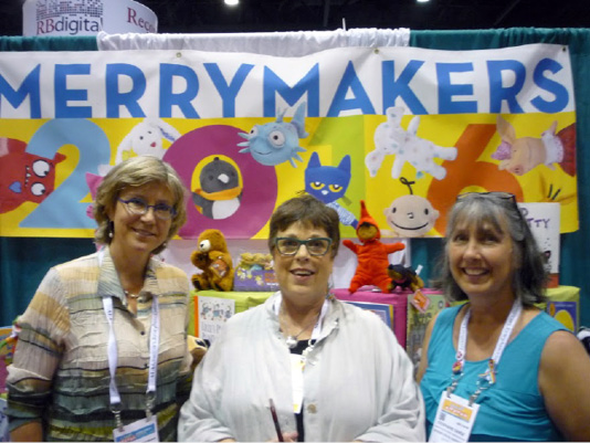 Merrymakers' President Clair Frederick, Ellen Hunter Ruffin, and Stephanie Bange.