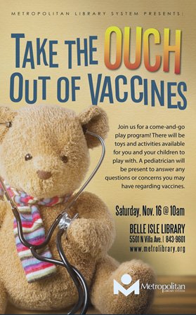 Book cover: Take te Ouch out of Vaccines
