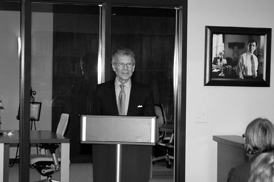 Senator Thomas A. Daschle at the podium