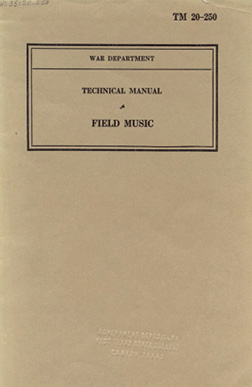 Cover of Technical Manual TM 20–250: Field Music, 1940.