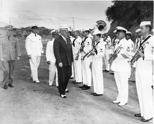 President Truman inspecting troops at Guantanamo Bay, 1948