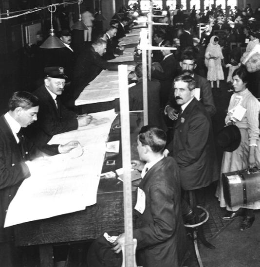 Figure 1. Registry clerks at Ellis Island