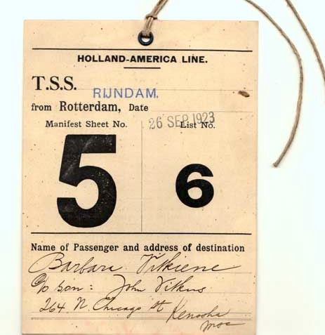 Figure 2. Example of a clothing tag