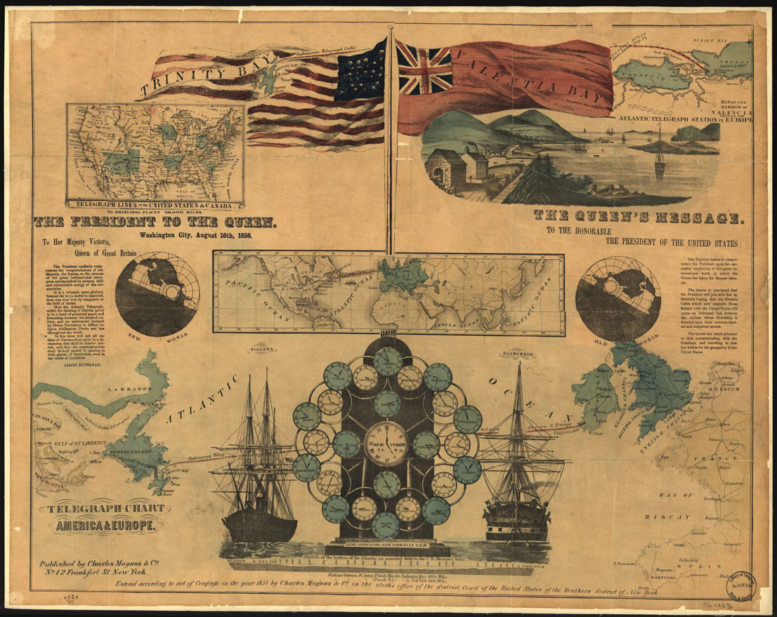 Figure 3. In the early years of the Transatlantic cable, both sides of the ocean were thrilled with the prosperity promised by expedient communication.