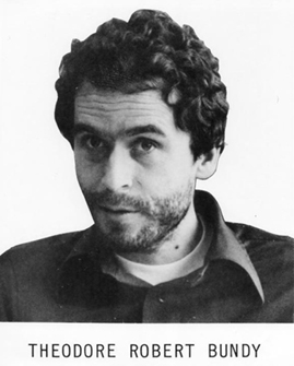 Figure 3. Serial killer Ted Bundy admitted to killing 36 people before he was executed in 1989.