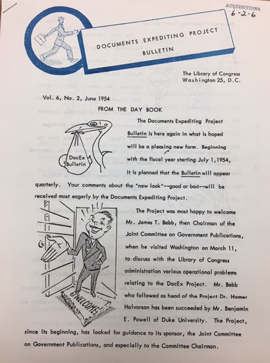Documents Expediting Project Bulletin, vol. 6, no. 2 (June 1954)