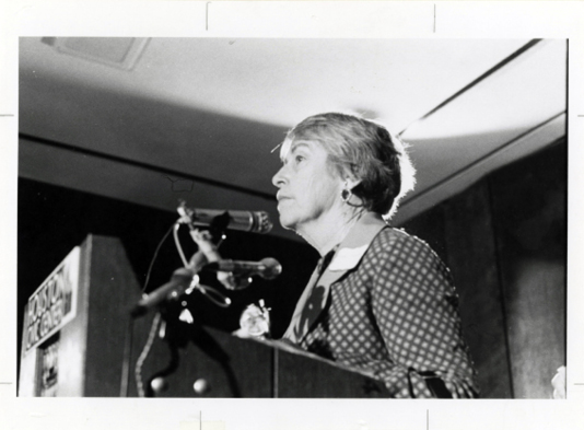 Figure 1. Martha Griffiths at ERA rally in Houston, Texas, 1977. From U.S. National Archives