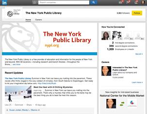 Figure 2.3. New York Public Library's LinkedIn company page