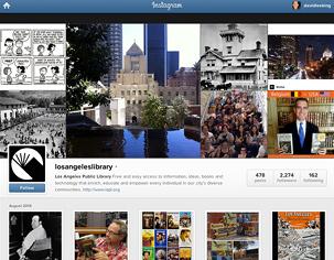 Figure 2.4. Los Angeles Public Library's Instagram account