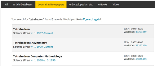 The University of New Brunswick Libraries' custom search interface is generated using the WorldCat Knowledge Base API and contains direct links into WorldCat.