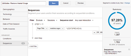 Custom segment, Google Analytics, University of Colorado Colorado Springs