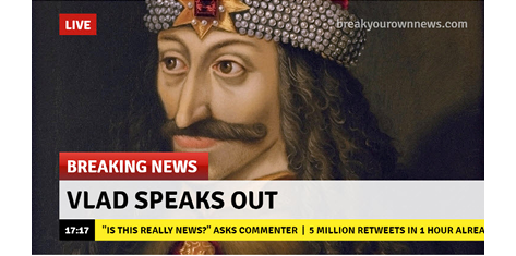 Create fun breaking news images with the Breaking News Generator.