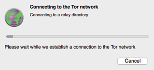 Figure 3. Connecting to the Tor Network.