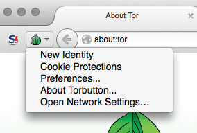 Figure 5. The Tor Button with its menu open.