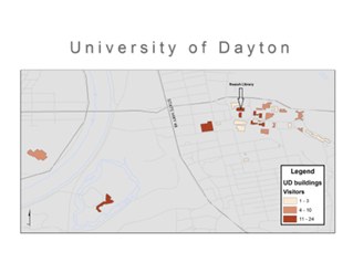Figure 3. What's Brewing Campus Attendence Map, by Jennifer Lumpkin, June 5, 2015