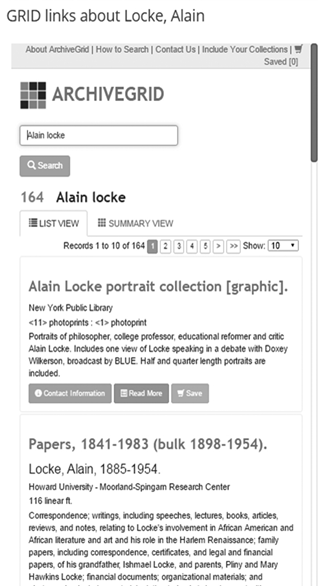 ArchiveGrid search results for Alain Locke