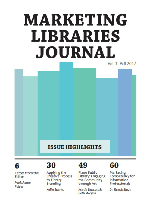 Cover: Marketing Libraries Journal vol. 1, Fall 2017