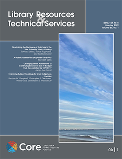 Library Resources & Technical Services vol. 65, no. 3 (July 2021)