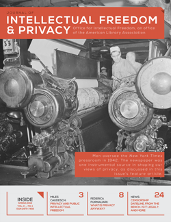 cover of Journal of Intellectual Freedom & Privacy volume 1, number 1
